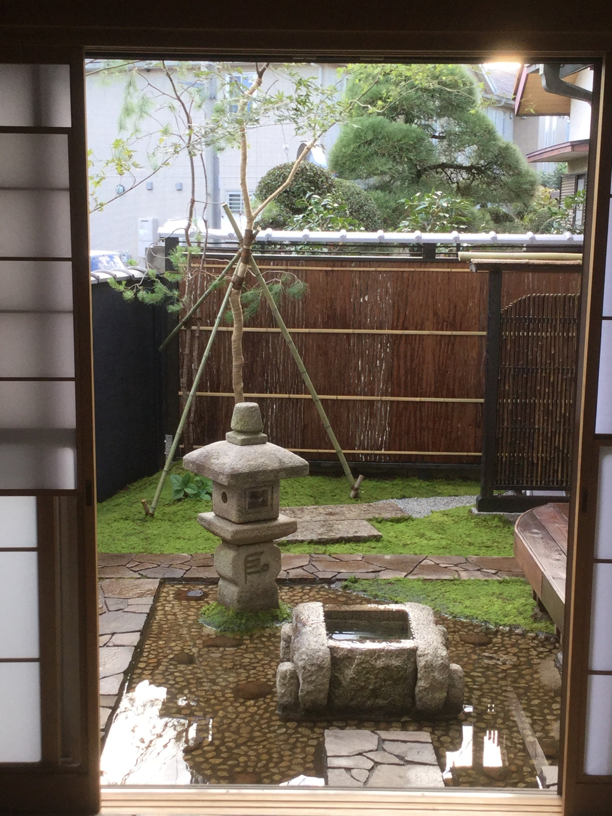 黒漆喰と苔の庭 埼玉県(さいたま市)-15