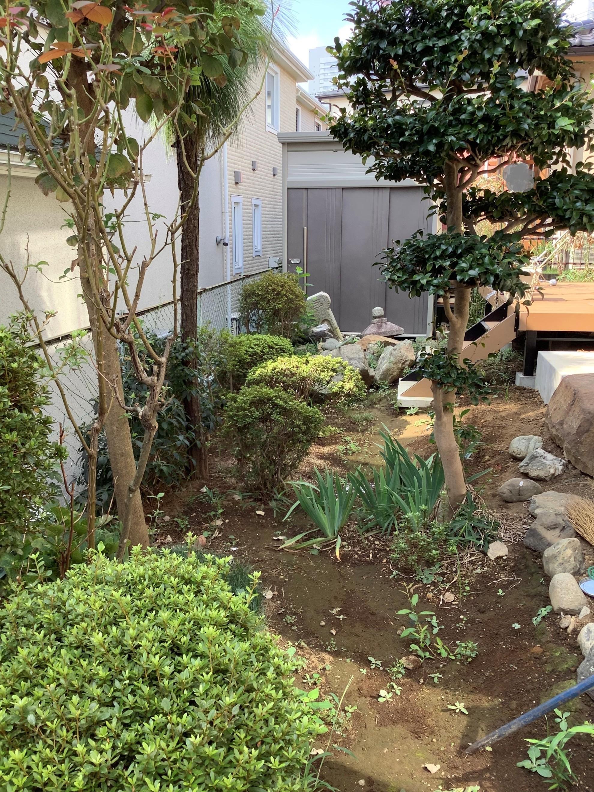 都市部の煎茶的庭 埼玉県(さいたま新都心)-2