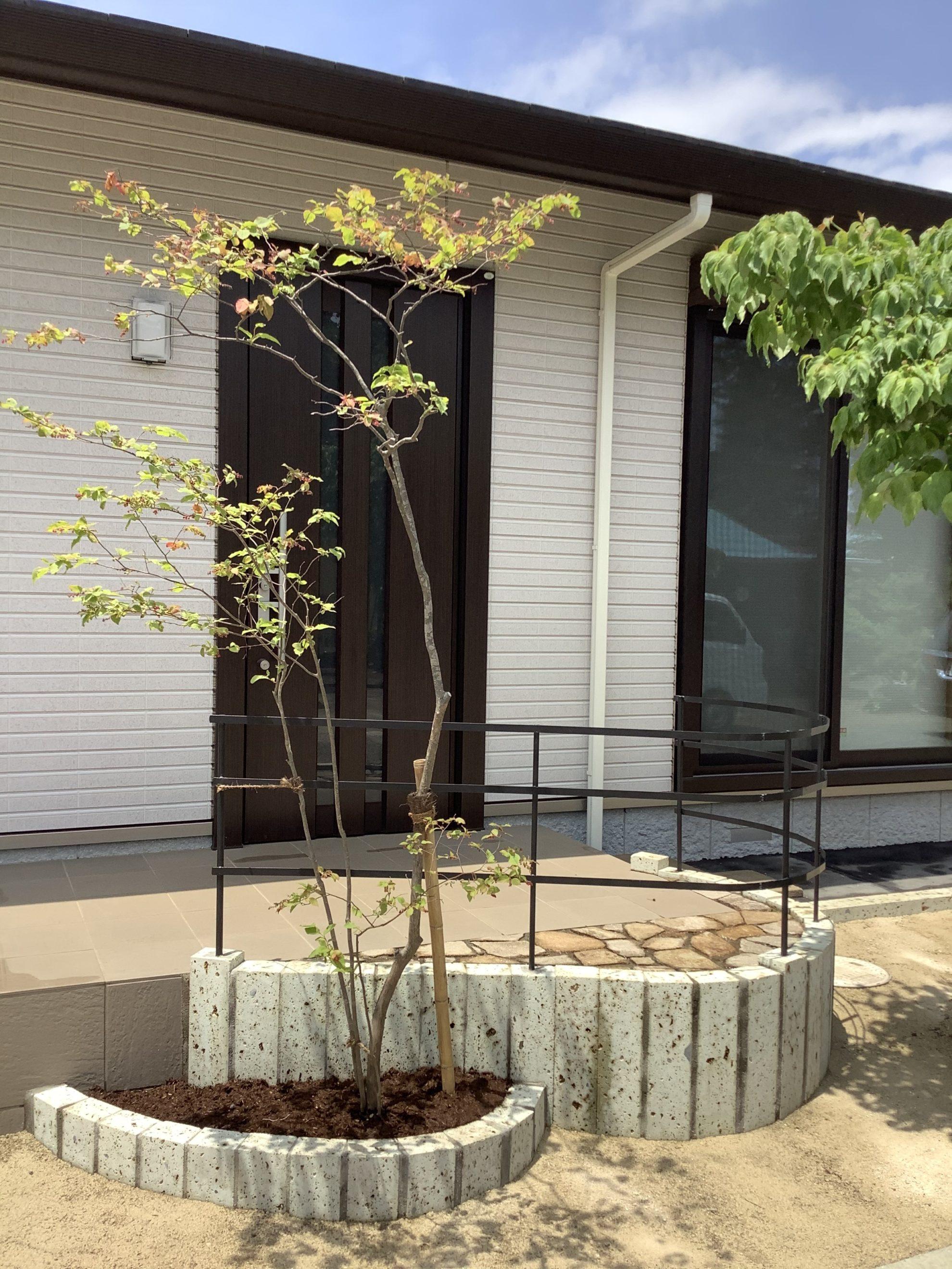 アイアンと自然材料の庭 外構 埼玉県(狭山市)-16