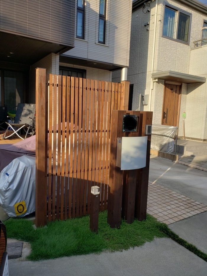 ウッドフェンスの庭 造園工事(埼玉県の事例)-16