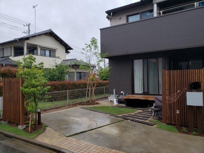 ウッドフェンスの庭 造園工事(埼玉県の事例)-12